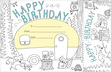 Color Me! Happy Birthday Awards & Bookmarks Set additional picture 2