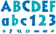 "NEW!! 4"" Sea & Sky Letter Pop-Outs additional picture 3"