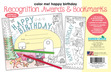 Color Me! Happy Birthday Awards & Bookmarks Set additional picture 3