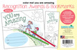 Color Me! You Are Amazing Awards & Bookmarks Set additional picture 5