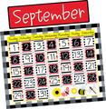 Buffalo Plaid & Wide Stripes Calendar Chart Set
