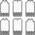 Double-Sided Black Tie Affair Chevron Accents