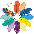 Bohemian Feathers Double-Sided Accents