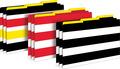 Wide Stripes Legal-Size File Folders