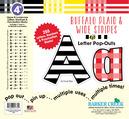 "4"" Buffalo Plaid & Wide Stripes Letter Pop-Outs"