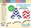 """4"""" Chevron - Nautical Letter Pop-Outs"""
