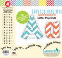 "4"" Chevron - Beautiful Letter Pop-Outs"