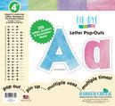 """NEW! 4"""" Tie-Dye Letter Pop-Outs"""