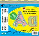 "Pink Lemonade 4"" Letter Pop-Outs"