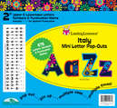"""Italy 2"""" Letter Pop-Outs"""