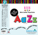 """Neon 2"""" Letter Pop-Outs"""