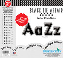 """Black Tie Affair 2"""" Letter Pop-Outs"""