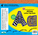 "Africa 4"" Letter Pop-Outs"