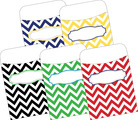 Peel & Stick! Chevron - Nautical  Library Pockets