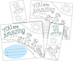 Color Me! You Are Amazing Awards & Bookmarks Set