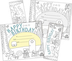 Color Me! Happy Birthday Awards & Bookmarks Set