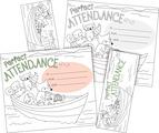 Color Me! Attendance Awards & Bookmarks Set