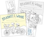 Color Me! Student of the Week Awards & Bookmarks Set
