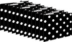 Black & White Dots File Folders