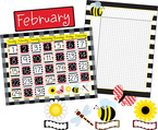 Get it All!  Buffalo Plaid & Wide Stripes Calendar & Incentive Chart Set