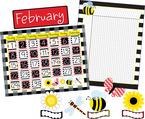 Get it All!  Buffalo Plaid & Wide Stripes Calendar & Incentive Chart Set