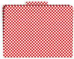 Red Check File Folder
