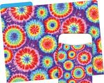 NEW! Folder/Pocket Set - Tie Dye