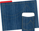 NEW! Folder/Pocket Set - Denim