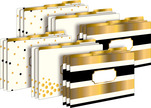 Legal File Folders Pack of 18 - 24k Gold