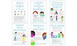 NEW! Be Healthy Poster Set