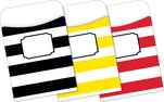 NEW! Peel & Stick - Wide Stripes Library Pockets