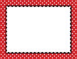Just Dotty - Red & White Border Chart