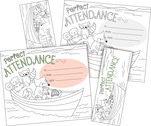 Color Me! Attendance Awards & Bookmarks Set