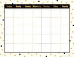 Calendar Chart - Gold Dots