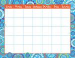 Calendar Chart - Moroccan