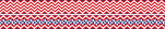 Chevron - Red Double-Sided Trim