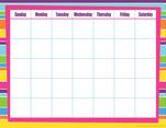 Calendar Chart - Happy Bright Stripes