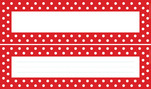 Red & White DOUBLE-SIDED Name Plates