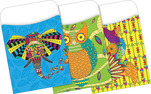Peel & Stick - Bohemian Animals Library Pockets