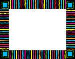 Neon Stripes Name Tag