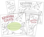 Color Me! Kindness Counts Awards & Bookmarks Set