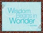 Wisdom Begins in Wonder