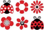 Ladybugs & Posies Accents