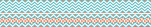 Chevron - Turquoise Double-Sided Trim