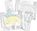Color Me! Happy Birthday Awards & Bookmarks Set