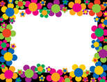 Neon Flower Border Chart