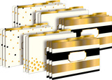 Legal File Folders Pack of 18 - 24k Gold