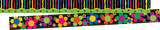 Double-sided Trim - Neon Stripe & Neon Flower Power