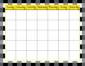 Calendar Chart - Buffalo Plaid & Wide Stripes picture