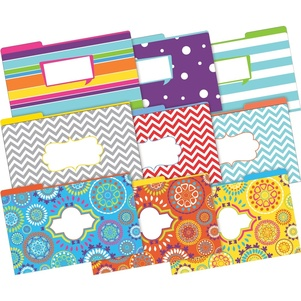 On Point Legal File Folders 9 each of 3 designs (Moroccan, Happy, Chevron Beautiful) picture